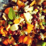 AVOCADO & BLACK BEAN SALAD #plantpower #recipes #fitfluential